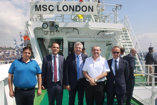 'MSC LONDON'  Ambarlı Limanı'nda galerisi resim 1
