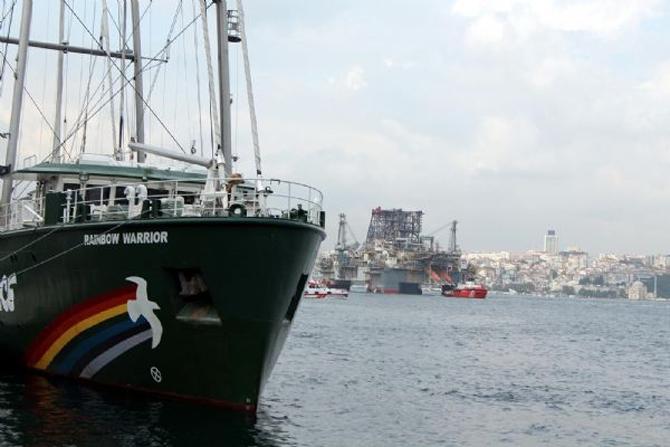 Dev petrol arama platformu İstanbul Boğazı'ndan geçti galerisi resim 1