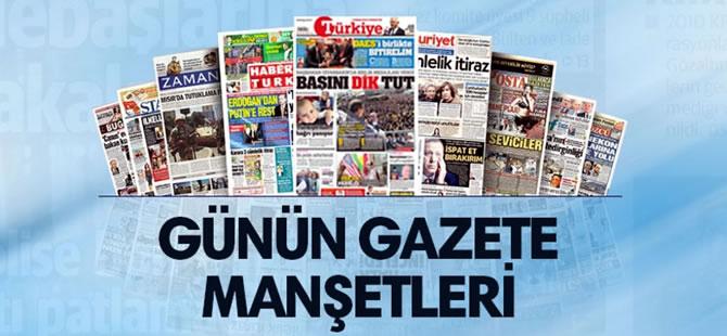 19 Ekim 2017 Perşembe tarihli gazete manşetleri