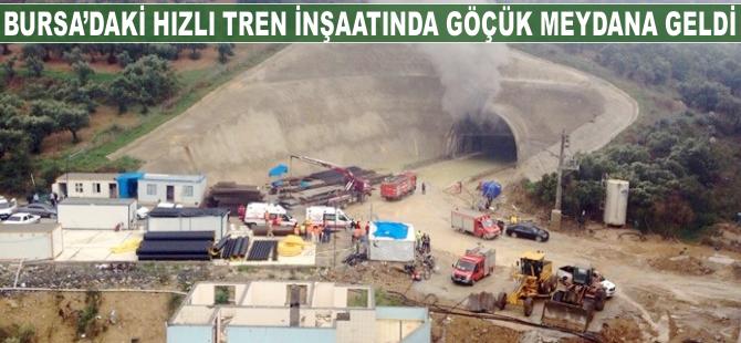 Bursa'daki hızlı tren inşaatında göçük
