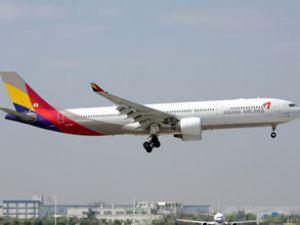 Asiana Hava Yolları'na ait uçak düştü