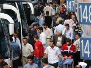 Otobüslerde doluluk oranı %100'e ulaştı