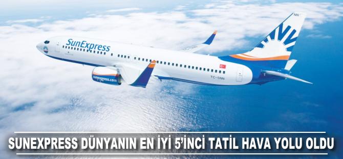 SunExpress Dünyanın En İyi 5'inci Tatil Hava Yolu seçildi