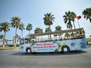Mersin'de üstü açık yolcu otobüsü hizmete başladı