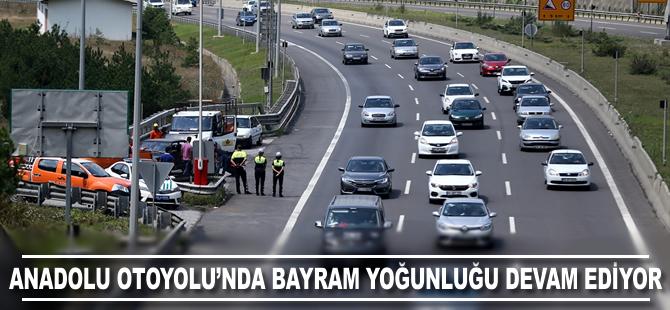 Anadolu Otoyolu'nda bayram yoğunluğu devam ediyor