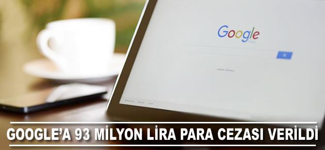Google'a 93 milyon lira para cezası verildi