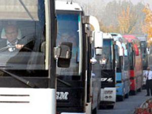 Otobüslerde doluluk oranı yüzde yüz oldu