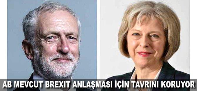 AB mevcut Brexit anlaşması için tavrını koruyor