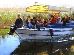 Akyaka'da tekne sezonu erken başladı