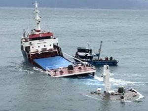 'Yusuf Celal' isimli gemi, Marmara Adası'nda battı