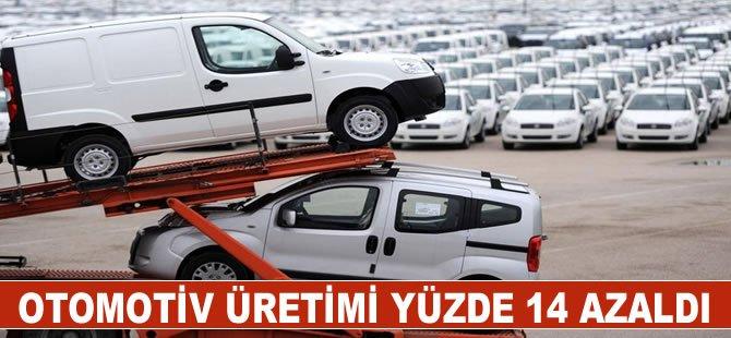 Yılın ilk iki ayında otomotiv üretimi yüzde 14 azaldı