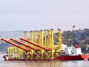ZHEN HUA 19 isimli kargo gemisi, İstanbul Boğazı'ndan geçti