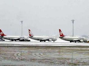 THY uçağı, kar yağışı nedeniyle iniş yapamadı
