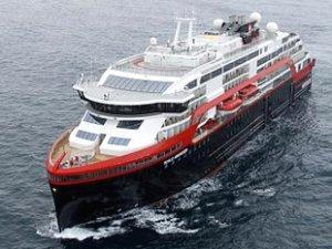 Roald Amundsen isimli hibrit yolcu gemisi, Norveç'ten yola çıktı