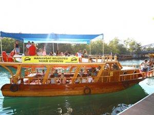 Manavgat'ta ücretsiz nehir otobüsü seferleri başladı