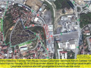 Alibeyköy'de tramvay için altyapı deplasesi yapılacak