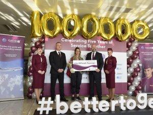 Qatar Airways 1 milyonuncu yolcusunu Sabiha Gökçen Uluslararası Havalimanı'nda karşıladı