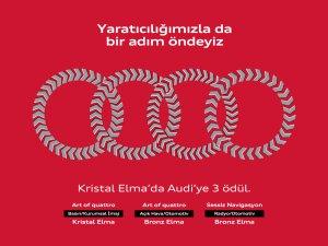 Audi'ye Kristal Elma'da 3 ödül