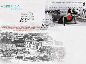 PTT'den 'Atatürk'ün Ankara'ya gelişinin 100. yıl dönümü' pulu