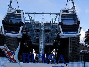 Bursa'da teleferik seferlerine şiddetli rüzgar engeli