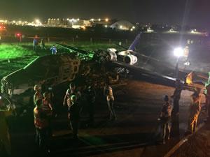 Medikal malzeme taşıyan uçak kaza yaptı