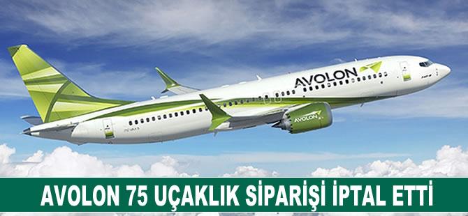 Avolon 75 uçaklık siparişi iptal etti