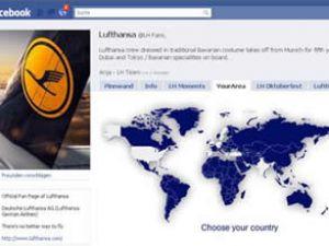 Facebook üzerinden Lufthansa erişimi