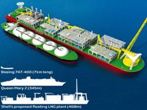 Shell, iki FLNG platformunu birleştirecek