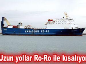 Karadeniz'de her zorluğa rağmen Ro-Ro
