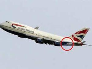 British Airways uçağı faciadan döndü