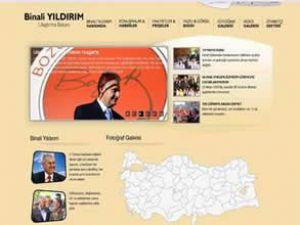 Bakan Yıldırım'ın resmi sitesi yenilendi