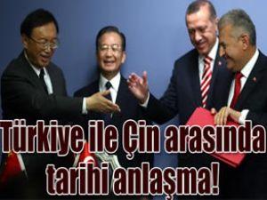 Türkiye ve Çin'den tarihi anlaşma