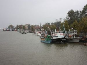 Balıkçı tekneleri Sakarya'da mahsur kaldı