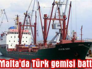 AYNUR KRK adlı Türk gemisi battı