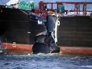 Kuzey Denizi'nde tankerle gemi çarpıştı