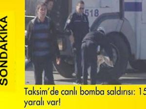İstanbul Taksim'de canlı bomba saldırısı