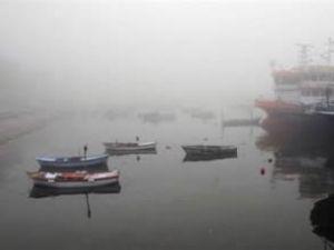 Bandırma Körfezi'nde yoğun sis etkili oluyor