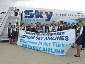 German Sky'ın ilk Almanya-Türkiye seferi