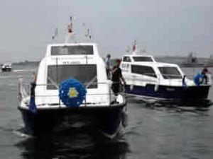 İzmir'in ilk deniz taksisi deneme seferinde