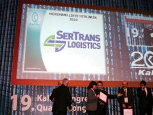 Sertrans'a Mükemmellikte Yetkinlik Ödülü