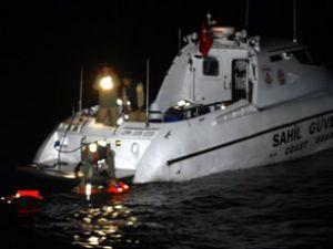 Marmara Denizi'nde palamar teknesi battı
