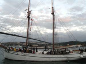 Tarihi Hulda gemisini 10 bin kişi ziyaret etti