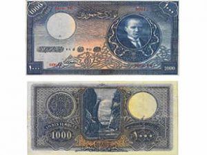 Atatürk'ün 1000 lirası 250 bin liraya satışta