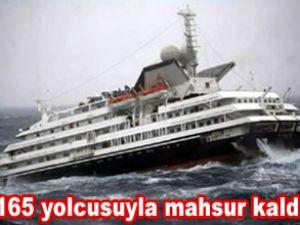 Clelia II gemisi denizde mahsur kaldı