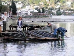 130 iskele parçalanarak sulara gömüldü