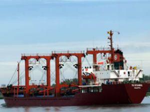 TK İstanbul gemisinin kamarotu yandı