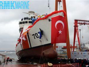 """""""TCSG Güven"""" törenle denize indirildi"""