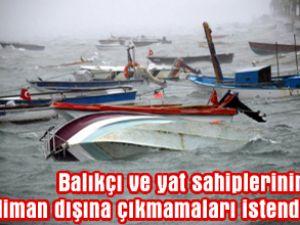 Bodrum'da feribot seferleri iptal edildi