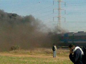 İsrail'de yolcu treninde yangın çıktı