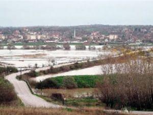 Ergene Nehri sağanak nedeniyle taştı